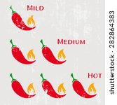 grunge red hot chilli peppers... | Shutterstock .eps vector #282864383