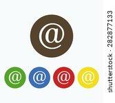 simple icon e mail symbol.   Shutterstock .eps vector #282877133