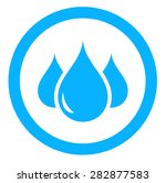 round aqua icon with blue drop...   Shutterstock .eps vector #282877583