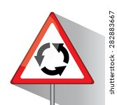 traffic triangle shaped  left ... | Shutterstock . vector #282883667