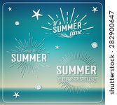 retro elements for summer... | Shutterstock .eps vector #282900647