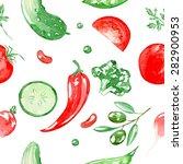 seamless vector watercolor... | Shutterstock .eps vector #282900953