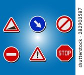 set of color icons with traffic ... | Shutterstock .eps vector #282903587