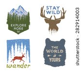 set of wilderness hand drawn... | Shutterstock .eps vector #282914003