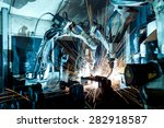 welding robots movement in a... | Shutterstock . vector #282918587