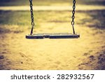 vintage photo of empty swing on ... | Shutterstock . vector #282932567