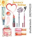 Watercolor  Summer Cosmetics...