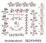 vintage retro floral seamless... | Shutterstock .eps vector #282954983