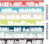 library  bookstore   seamless... | Shutterstock .eps vector #282966023