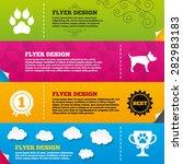 flyer brochure designs. pets...   Shutterstock .eps vector #282983183