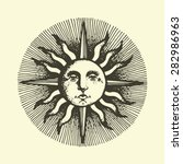 Engraved Sun With The Face....