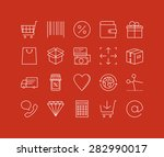 thin lines icons set of... | Shutterstock .eps vector #282990017