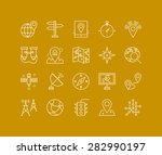 thin lines icons set of geo... | Shutterstock .eps vector #282990197