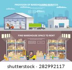 warehouse banner set with... | Shutterstock .eps vector #282992117