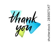 thank you card  ink hand... | Shutterstock .eps vector #283007147