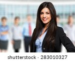 portrait of a smiling woman in... | Shutterstock . vector #283010327