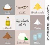 ingredients set  2. soda ... | Shutterstock .eps vector #283020947
