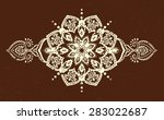 ornament beautiful  card with... | Shutterstock .eps vector #283022687