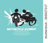 motorcycle accident vector...   Shutterstock .eps vector #283027217
