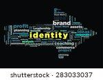 identity word on cloud concept... | Shutterstock . vector #283033037
