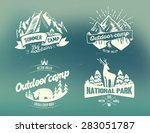 set outdoor camp typography... | Shutterstock .eps vector #283051787