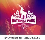 national park typography design ... | Shutterstock .eps vector #283052153