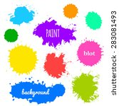 collection of paint splash....