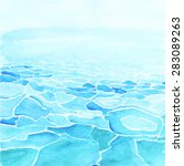 watercolor sea background made... | Shutterstock .eps vector #283089263