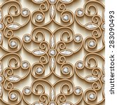 vintage gold ornament  vector... | Shutterstock .eps vector #283090493