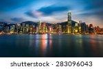 Hong Kong City Skyline At Nigh...