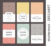set of perfect vector card... | Shutterstock .eps vector #283116857