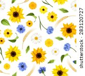 vector seamless pattern with... | Shutterstock .eps vector #283120727