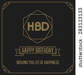 happy birth day monochrome