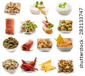 photo collage of spanish tapas  ... | Shutterstock . vector #283133747