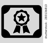 certificate icon from business... | Shutterstock .eps vector #283136813