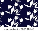 Floral Pattern With Small Whit...