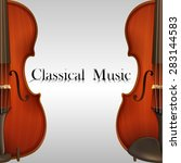 poster of classical music with...   Shutterstock .eps vector #283144583