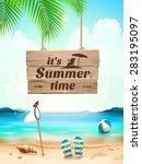 summer time on background... | Shutterstock .eps vector #283195097