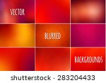 set of abstract colorful... | Shutterstock .eps vector #283204433
