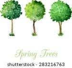 Three Flowering Trees Trimmed...
