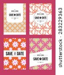 card set templates. abstract... | Shutterstock . vector #283229363