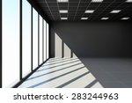 modern empty black office... | Shutterstock . vector #283244963