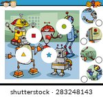 cartoon illustration of match... | Shutterstock . vector #283248143
