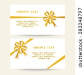 set of gift banner with flower... | Shutterstock . vector #283248797