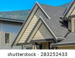 the roof of the house with nice ... | Shutterstock . vector #283252433