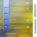 abstract template with blur... | Shutterstock .eps vector #283262297