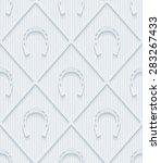 light gray horseshoes wallpaper.... | Shutterstock .eps vector #283267433