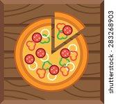 illustration of tasty pizza | Shutterstock .eps vector #283268903