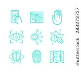 Vector Set Of Icons In Trendy...