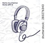 headphones industrial design... | Shutterstock .eps vector #283276343